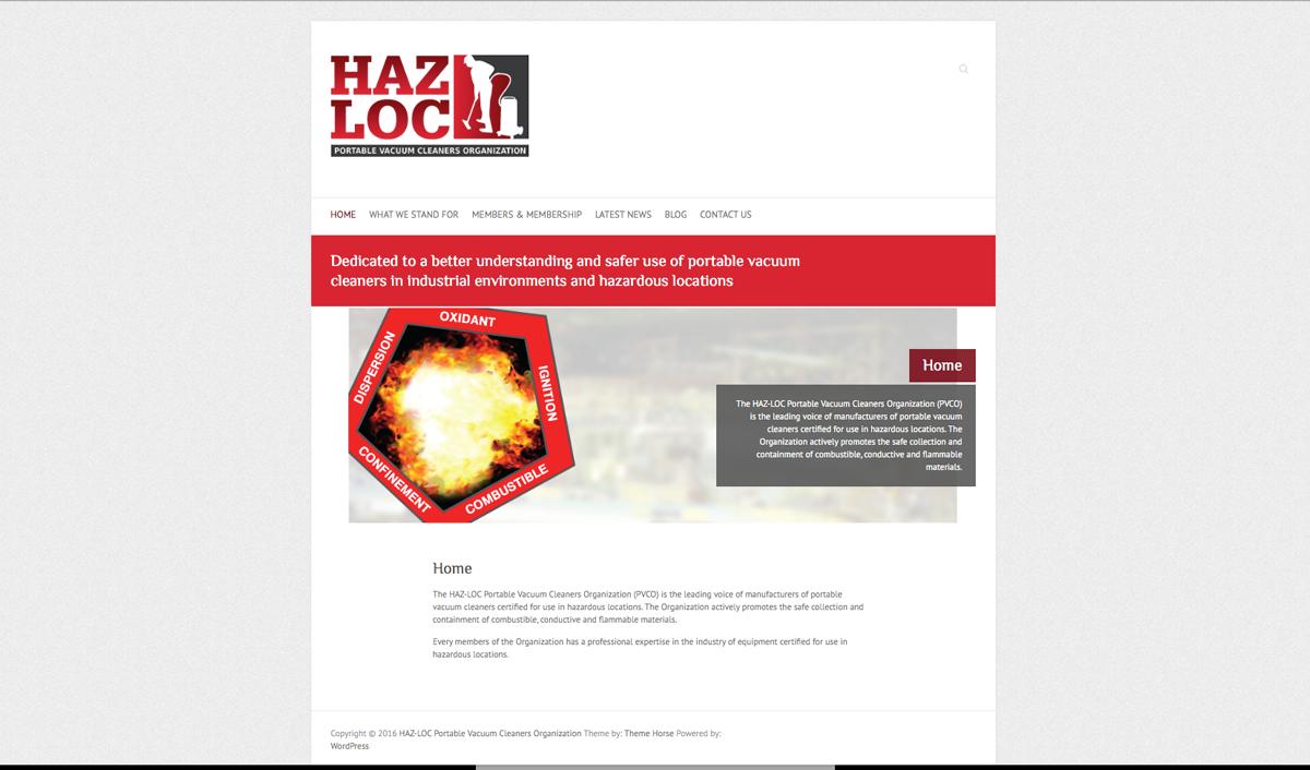 HAZ-LOC Portable Vacuum Cleaner Organization (PVCO)